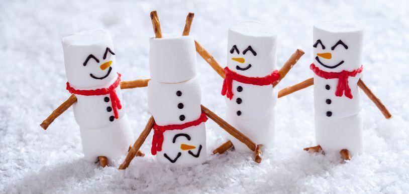 Happy miniature snowmen.