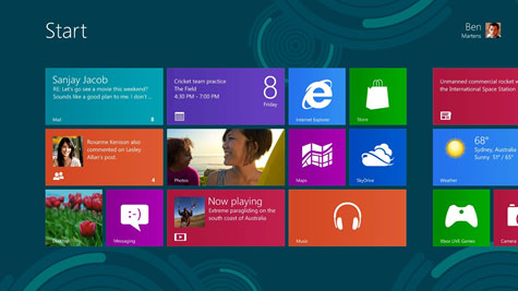 Windows 8 Home Page