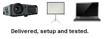Projector, Screen and Laptop Rental