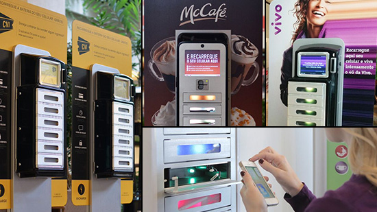 Cell Phone Recharging Kiosk Rentals