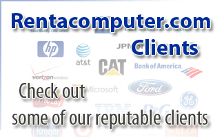 Rentacomputer.com has done business with several reputable clients