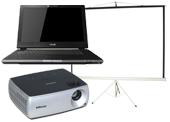 Powerpoint Projector, Screen, & Laptop Rentals