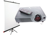 Projector & Screen Combo Rentals From Rentacomputer.com