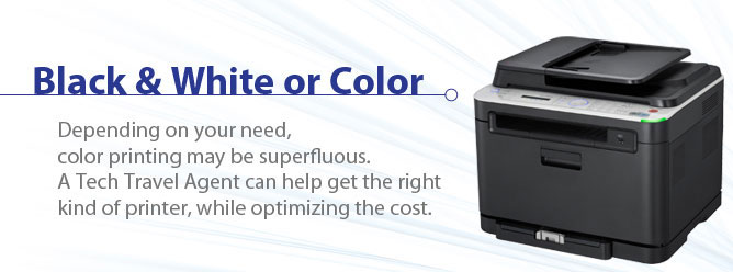 Black & White or Color Printer Rentals.