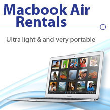 Apple Macbook Air rentals
