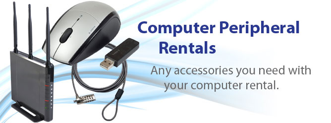 Computer Peripheral Rentals - A Tech Travel Agent is your one point of contact for computer accessory rentals.