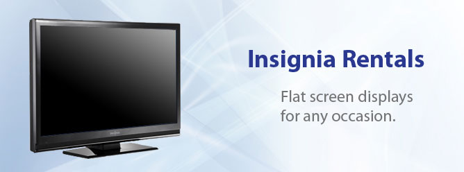 Save money and time by renting Plasma TV's for your next trade show or event