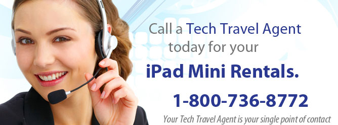 Your one point of contact for iPad Mini rentals.
