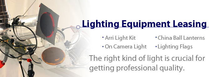 Lighting Equipment Leasing: The right kind of light is crucial for getting professional quality.
