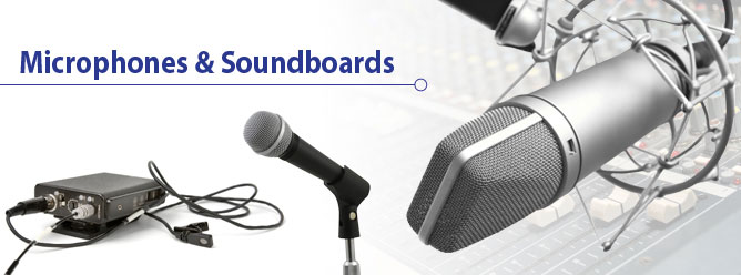 Microphone and Soundboard Rentals.