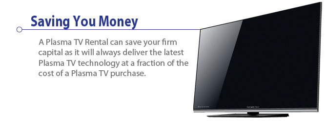 Plasma TV rental saves your company money.