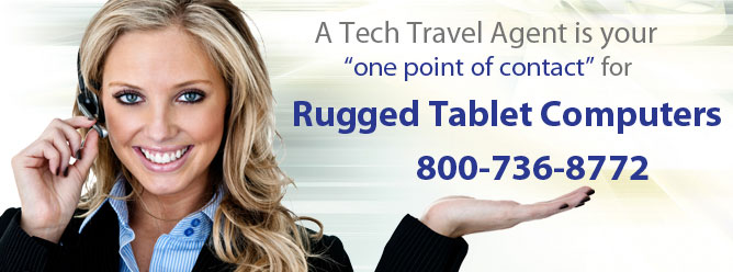 A Tech Travel Agent is your one point of contact for all rugged tablet rentals.