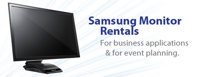 Samsung Monitor Rental.