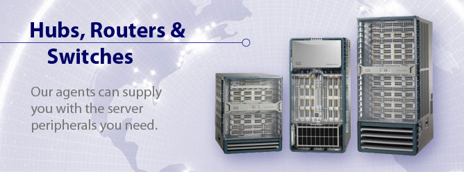 We offer a full range of server rental peripherals