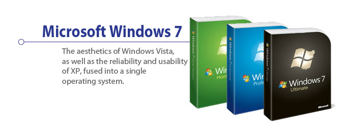 Microsoft Windows 7 - The aesthetics of Windows Vista, as well as the reliability and usability of XP, fused into a single operating system