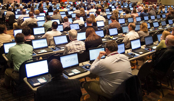 Large Training Class With Rented Laptops Utilizing Preloaded Software