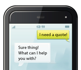 Get a quick quote through text